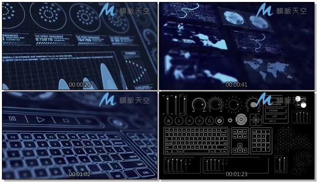 130810226科幻HUD界面动画元素