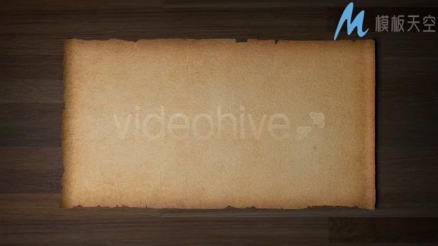 131310017古老的羊皮纸卷轴展开