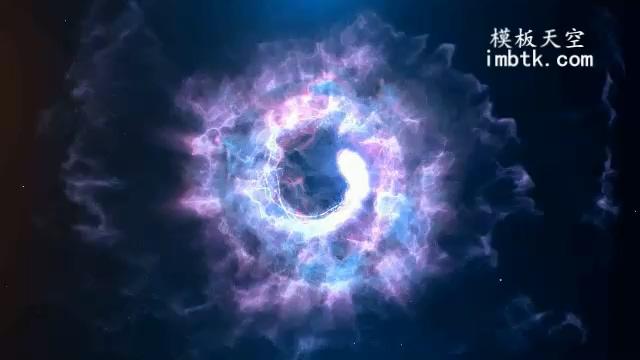 震撼的粒子爆炸片头LOGO会声会影模板