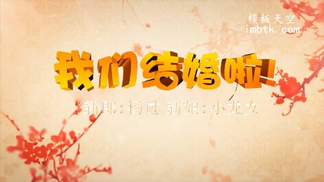 古典中国风传统文化喜庆婚礼片头会声会影模板