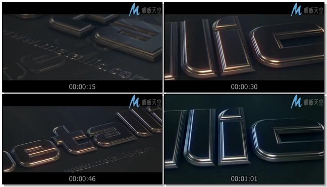130310958金属文字动画AE模板