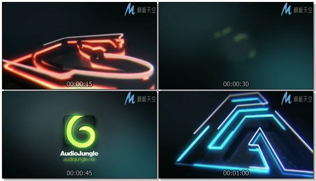 130310966 霓虹光效标志动画AE模板