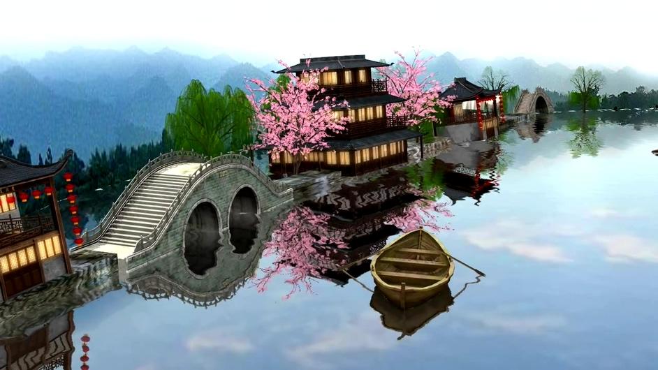 唯美古风描述江南生活状态的视频素材