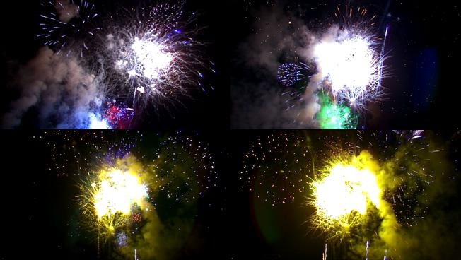迎新年烟花盛开的视频素材