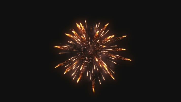 大气的金色闪光烟花盛开视频素材