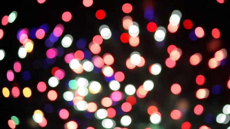 彩色粒子模仿烟花盛开的视频素材