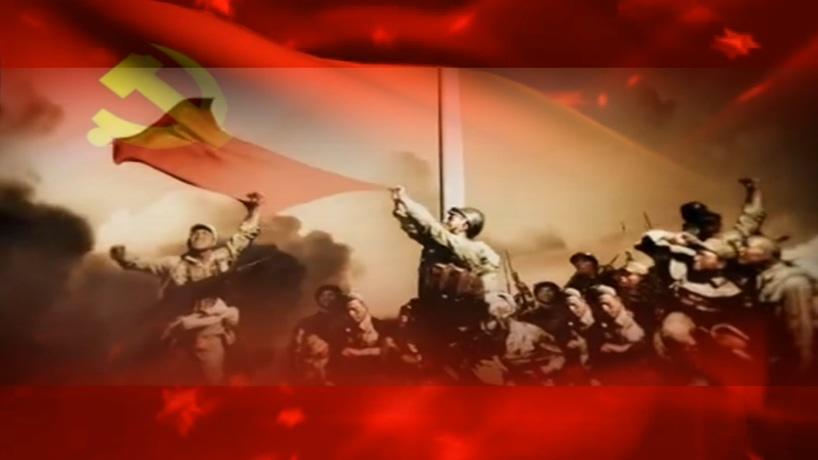 牢记中国伟大历程的视频素材