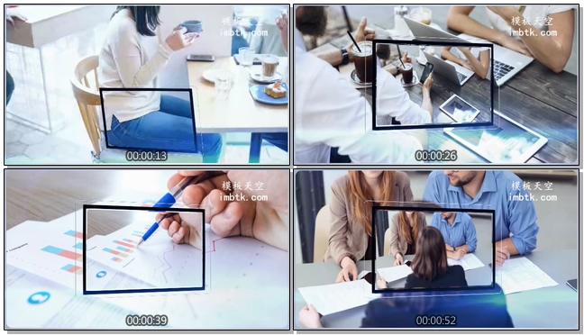 光效科技企业玻璃相框商务宣传会声会影模板