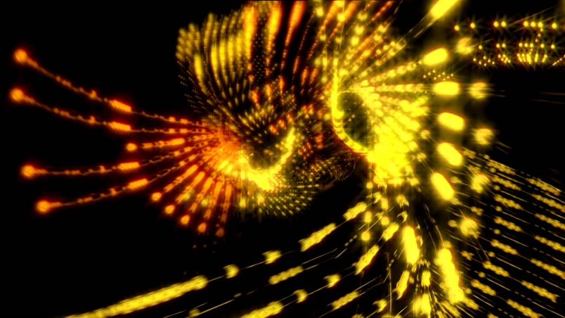 金色串珠形成DTS-HD标志的背景视频