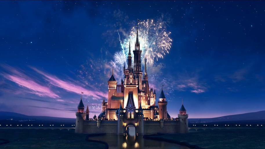 唯美星空下的迪士尼片头背景视频