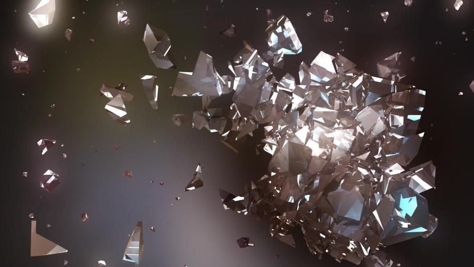 散落水晶的电影片头背景视频