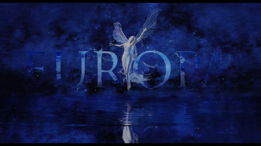 浪漫星空下出现欧罗巴公主的背景视频