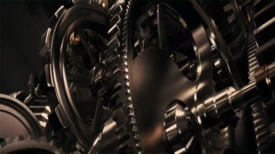重金属形式的狮门影业标志背景视频
