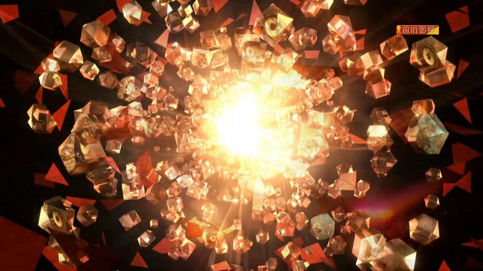 好莱坞散落水晶电影片头背景视频