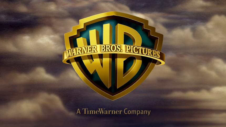 波动的金色字体华纳兄弟标志的背景视频