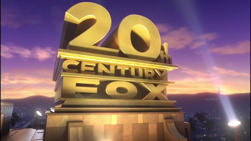 经典金色字体的福克斯标志背景视频
