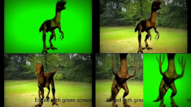 动感震撼的恐龙仰天呼啸的视频素材