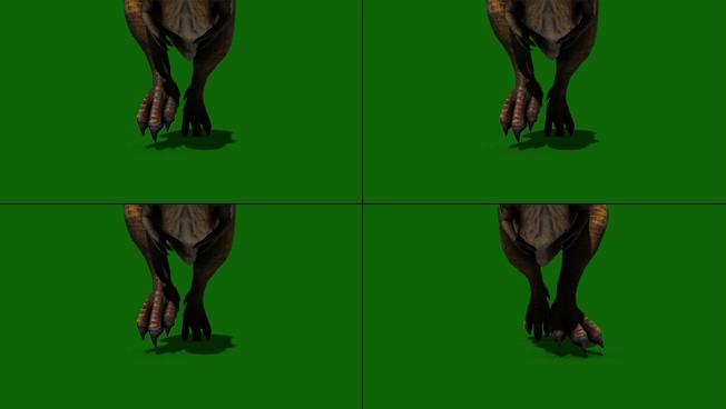 动感震撼的恐龙奔跑视频素材