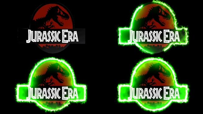 震撼大气的恐龙标志燃烧视频素材
