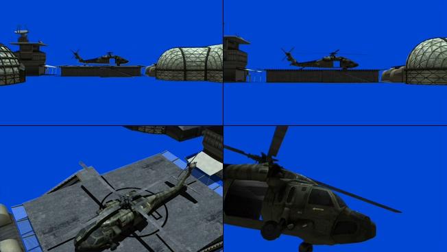 震撼大气的直升机起飞过程视频素材