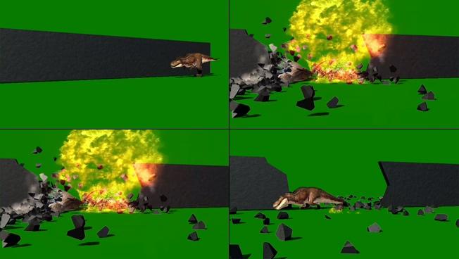 动感震撼的恐龙爆炸宣传视频素材