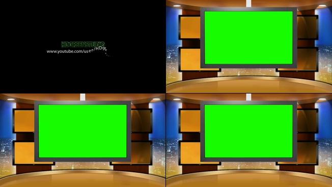动感震撼的光效演播室宣传视频素材