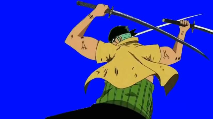 时尚震撼的海贼王打斗场面视频素材