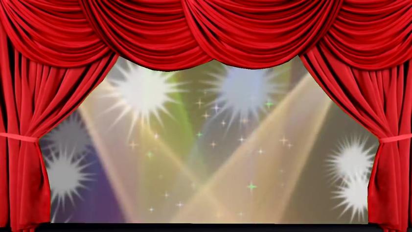 唯美梦幻的舞台红色幕布开场的视频素材