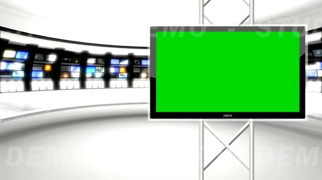 时尚动感的新闻直播间现场视频素材