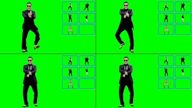 鸟叔与多人大跳热舞的视频素材
