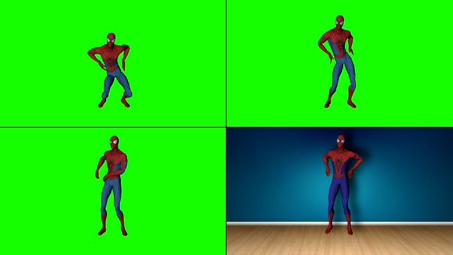 动感震撼的蜘蛛侠跳舞视频素材