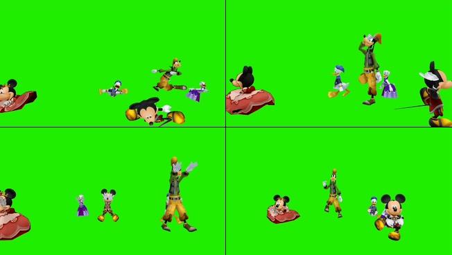 动感趣味的卡通人物跳舞宣传视频素材