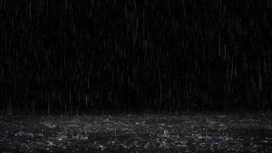浪漫的下雨天带绿色通道视频素材