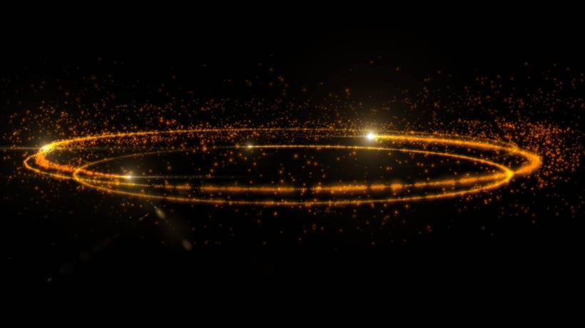 唯美梦幻的光效粒子旋转视频素材
