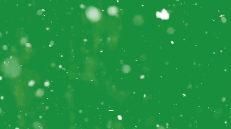 浪漫唯美的雪花飘落视频素材