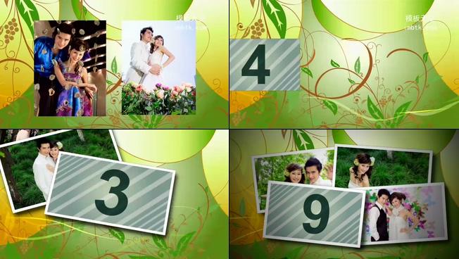 婚庆电子相册32号嫁给你会声会影X6模板
