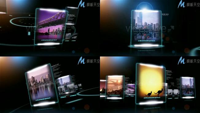 科技感互联网产品图文宣传片AE模板