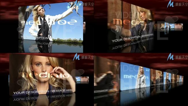 颁奖表彰企业宣传照片排列滚动AE模板