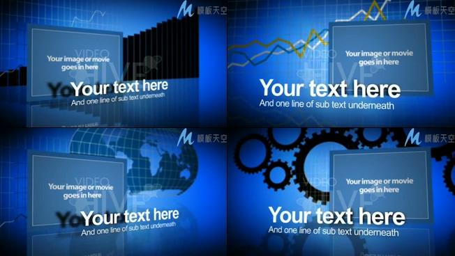 科技感商务数据企业宣传展示AE模板