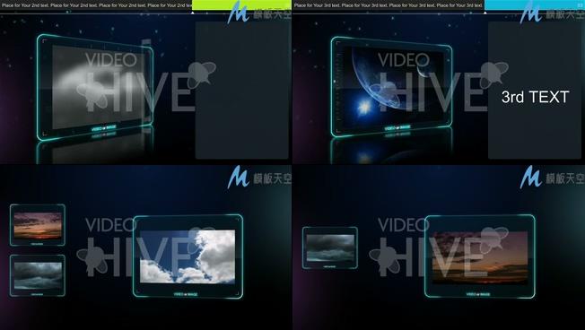 科技产品宣传照片展示AE模板