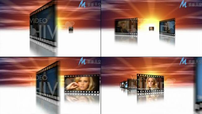 电影胶片颁奖表彰晚会开场片头视频AE模板