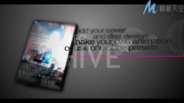 音乐专辑VJ师光盘展示片头AE模板