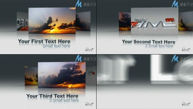 旋转照片产品宣传相册视频AE模板