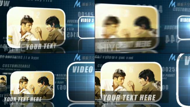 互联网公司科技感商务宣传片头AE模板