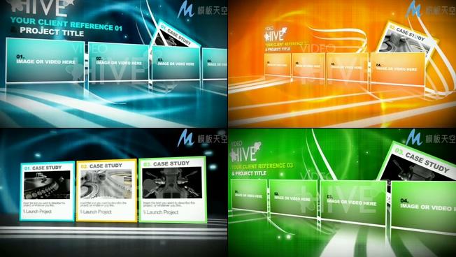 大气高端的商务宣传图文展示相册AE模板