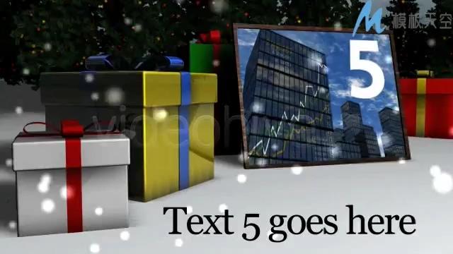 圣诞平安夜庆祝电子相册AE模板