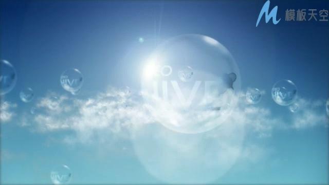 蓝天白云阳光简洁的AE片头模板