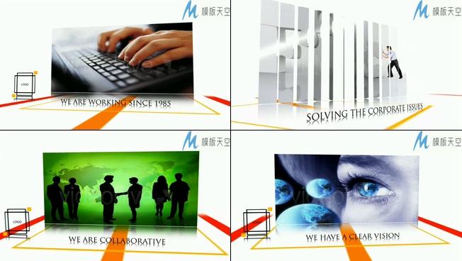 高端的企业宣传产品展示照片AE模板