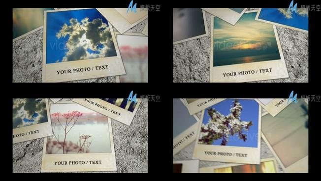 动感照片墙旅游相册AE模板