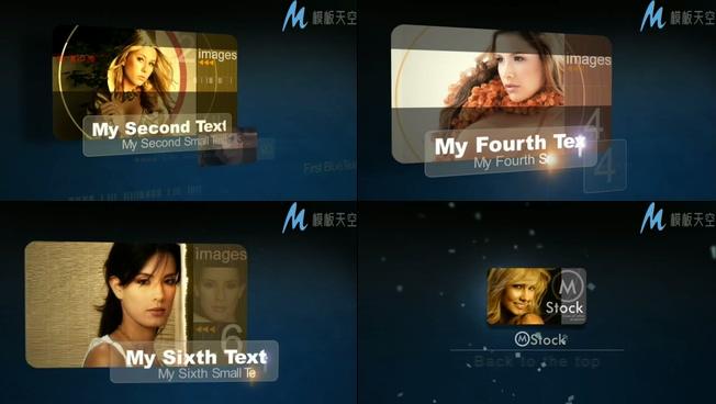 光效透明特效科技宣传人物简介AE模板